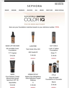 A few of my Color IQ foundation options.