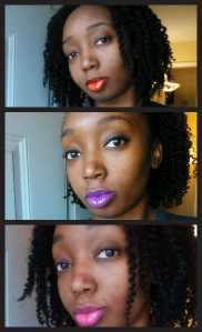 Top to bottom: Maybelline Color Elixir Mandarin Rapture, Vision In Violet, Fuchsia Flourish