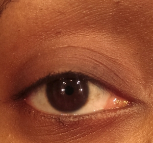 My bare lashes. They look like nothing I promise some are there though.