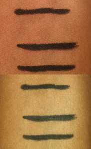 Top w/o flash Bottom: with flash. Silkissime and Urban Decay Zero and Perversion