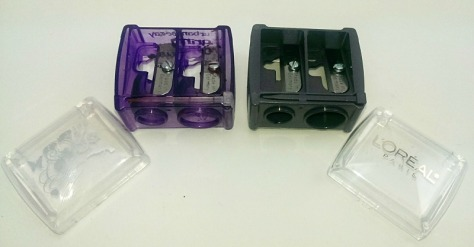Urban Decay Grindhouse Sharpener and L'Oreal Dual Sharpener