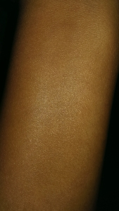 BB Cream after it's been blended in.