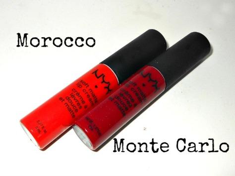NYX Soft Matte Lip Cream Morocco Monte Carlo Prague Amsterdam