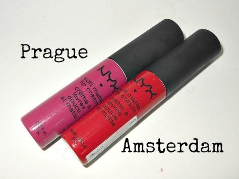 NYX Soft Matte Lip Cream Prague Amsterdam Morocco Monte Carlo