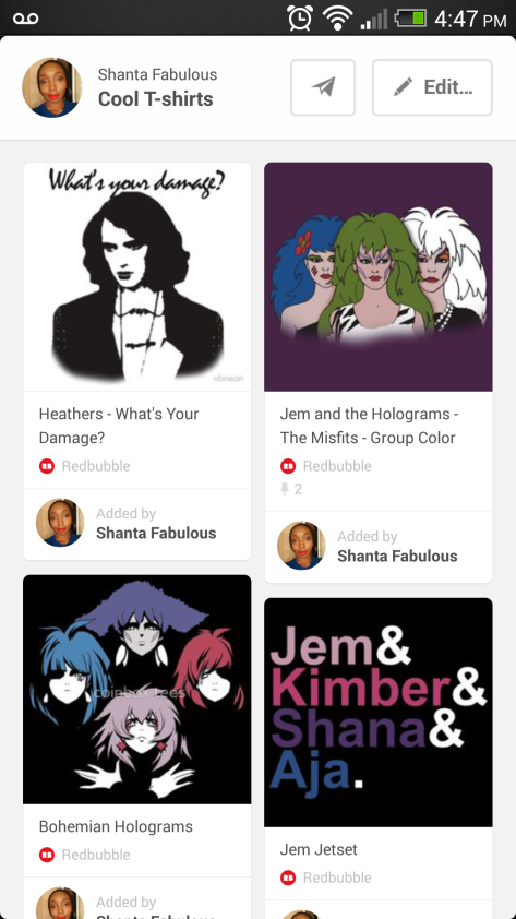 This is my Cool T-shirt pinterest board. No one cares about it but me and that's just fine.