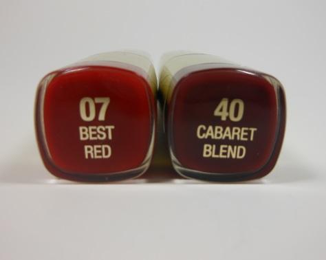 Milani Lipsticks Best Red and Cabaret Blend