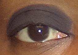 This is my right eye with primer.