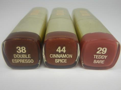 Milani Lipsticks Double Espresso, Cinnamon Spice, Teddy Bare