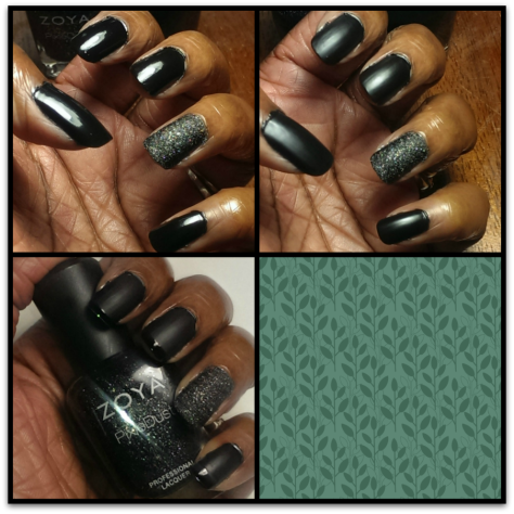 Black French Manicure Process