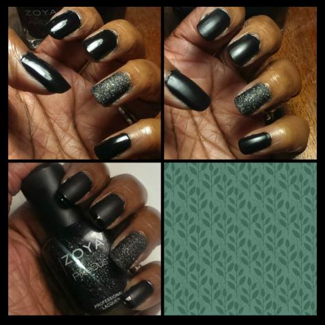 Black French Manicure Process