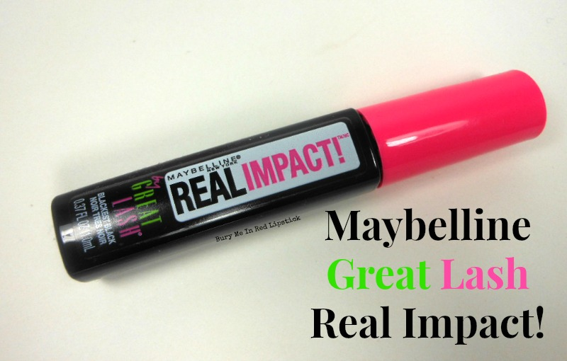 Maybelline Great Lash Real Impact Mascara | Bury Me In Red Lipstick